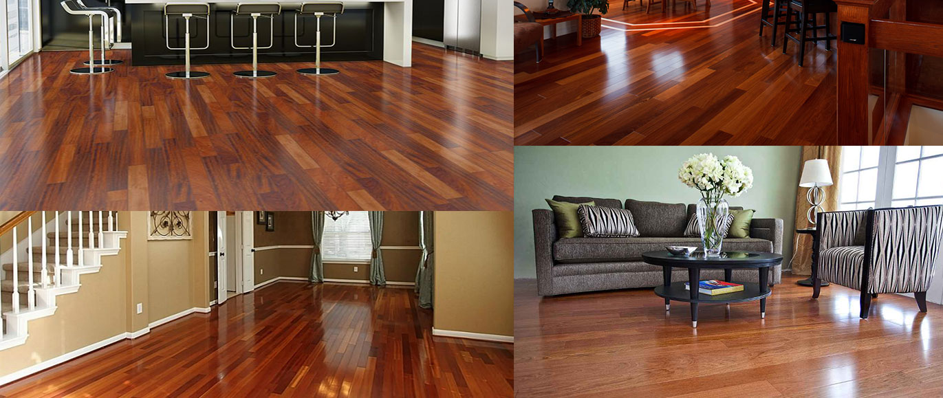 Brazilian Cherry Hardwood Floor Rocks Interior Designing
